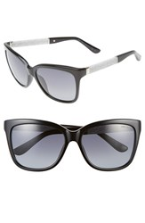 Women's Jimmy Choo 'Coras' 56Mm Retro Sunglasses Black