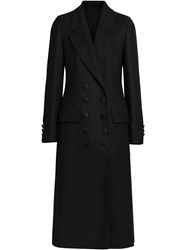 Burberry Double Breasted Cashmere Tailored Coat Black