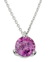 Roberto Coin Pink Sapphire Pendant Necklace