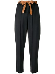 Alysi Cropped Trousers Black
