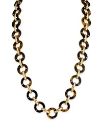 Kate Spade New York Out Of Her Shell Gold Tone Tortoiseshell Look Long Necklace Tortmulti