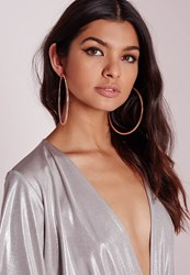 Missguided Textured Hoops Rose Gold Red
