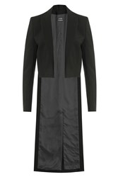 Anthony Vaccarello Cutaway Coat Black
