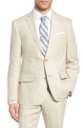 Nordstrom Men's Big And Tall Men's Shop Classic Fit Linen Blazer Natural