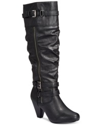 Rampage Eliven Tall Shaft Dress Boots Women's Shoes Black