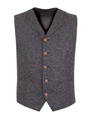 Gibson Men's Charcoal Donegal Fleck Waistcoat Charcoal