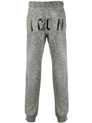 Dsquared2 Icon Print Track Pants Grey
