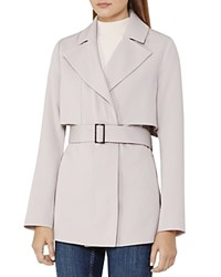 Reiss Vance Short Trench Jacket Cloud
