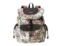 Sakroots Artist Circle Flap Backpack Optic Songbird Backpack Bags Multi