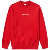 Aime Leon Dore Logo Crew Sweat Red