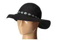 San Diego Hat Company Wfh7954 Round Crown Floppy With Faux Silver And Turquoise Bead Black Caps
