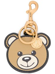 Moschino Toy Bear Keyring Leather Brown