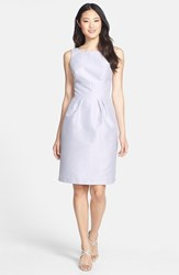 Alfred Sung Women's Boatneck Sheath Dress Dove