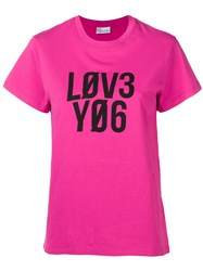 Red Valentino Love You T Shirt Pink And Purple