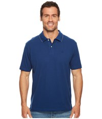 Dockers Solid Signature Polo Estate Blue Clothing Navy