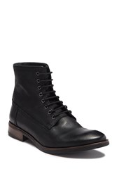 Frank Wright Cleef Suede Lace Up Boot Black Milled Leather