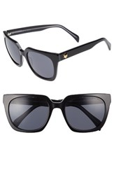 Draper James Women's 54Mm Square Sunglasses Black