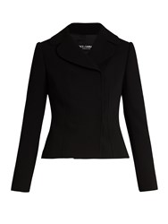Dolce And Gabbana Double Breasted Notch Lapel Wool Jacket Black