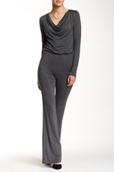 American Twist Cowl Neck Jumpsuit Gray