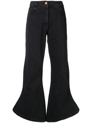 Aalto Flared High Waisted Jeans Black