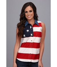 Roper S L Stars And Stripes Pieced Flag Red 3 Women's Sleeveless
