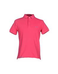 Project E Topwear Polo Shirts Men Fuchsia