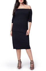 Rachel Roy Plus Size Women's Jacquard Knit Pencil Skirt