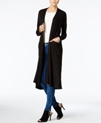 Bar Iii Duster Cardigan Only At Macy's Deep Black