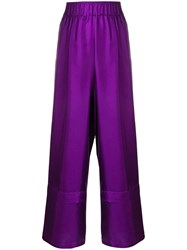 Alysi Elasticated Waistband Trousers Purple