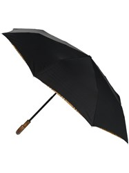Burberry Black Traf Check Print Umbrella
