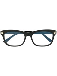 Cartier Panther Head Detail Glasses Black