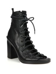 Ann Demeulemeester Lace Up Leather Sandals