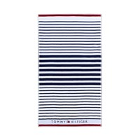 Tommy Hilfiger Navy Striped Beach Towel