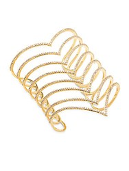 Noir Cuic Zirconia And 18K Gold Plated Studded Bracelet