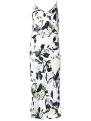 Scanlan Theodore Printed Slip Long Dress White
