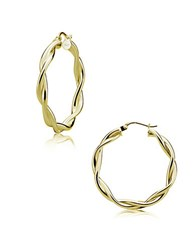 Lord And Taylor 18K Gold Vermeil Double Twisted Hoop Earrings