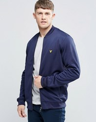 Lyle And Scott Bomber Track Top In Navy Navy