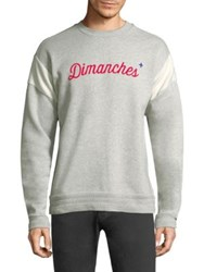 Commune De Paris Long Sleeve Dimanches Cotton Sweatshirt Grey