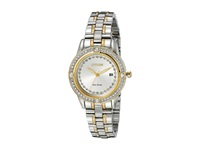 Citizen Fe1154 57A Eco Drive Silhouette Crystal Two Tone Stainless Steel Watches Silver