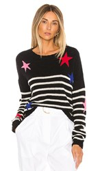 Rails Perci Sweater In Black. Black Stripe Multi