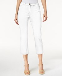 Charter Club Petite Cropped Twill Pants Only At Macy's Bright White