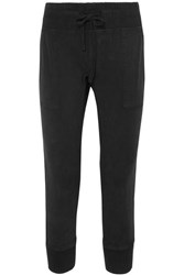 James Perse Cotton Twill Track Pants Black