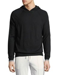 Vince Wool Cashmere Pullover Hoodie Black