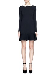 Valentino Removable Peter Pan Collar Sweater Dress Black