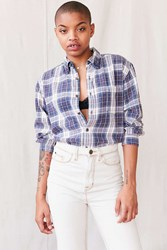 Urban Renewal Recycled Assorted Washed Flannel Shirt Blue