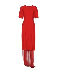 Daniele Carlotta Knee Length Dresses Red