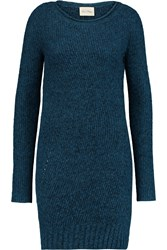 American Vintage Grizzly Bay Stretch Knit Sweater Dress Blue