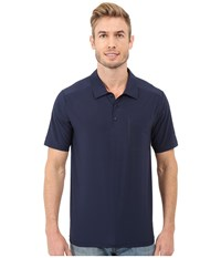 The North Face Short Sleeve Ignition Polo Cosmic Blue Men's Short Sleeve Knit