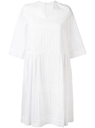 Peter Jensen Broderie Anglaise Dress White