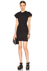 Alexander Wang Draped Bustier Tee Dress In Black